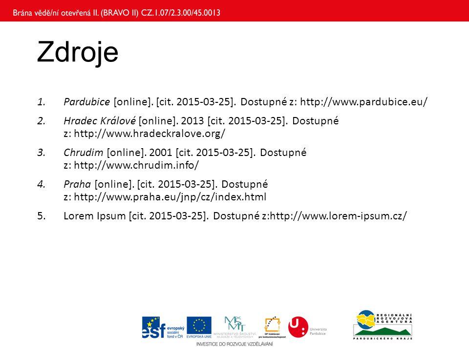 Zdroje Pardubice [online]. [cit. 2015-03-25]. Dostupné z: http://www.pardubice.eu/